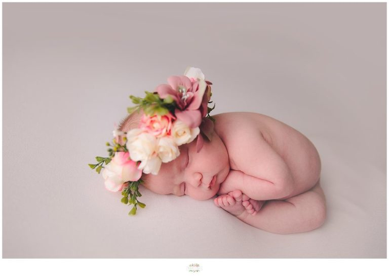 Winter Garden Newborn Photography